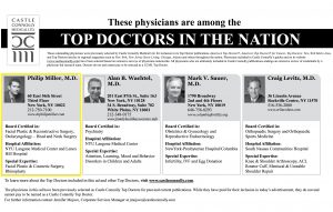 Image of New York Time's issue acknowledging Doctor Miller as one of America's top doctors by Castle and Connolly, New York, NY