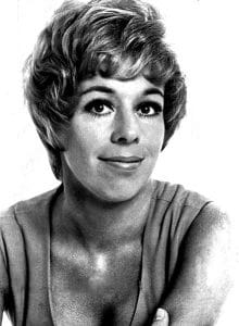 Image of actress carol burnett, image is used in context of her interview on CNN about her chin plastic surgery