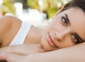 stock image of a female model for a blog about Pelleve wrinkle treatment in NY, NY