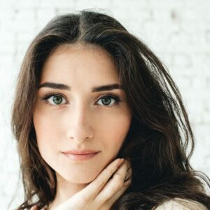 stock image of a female model for blog about skincare regimen tips in NYC
