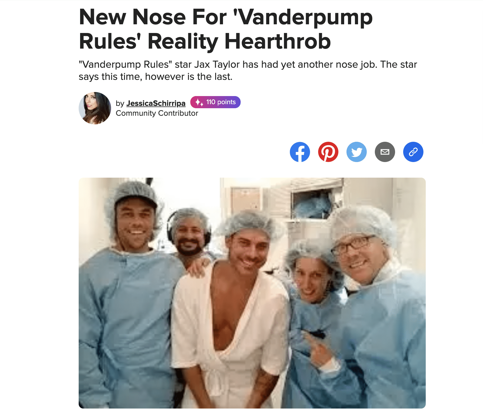 New Nose For 'Vanderpump Rules' Reality Hearthrob