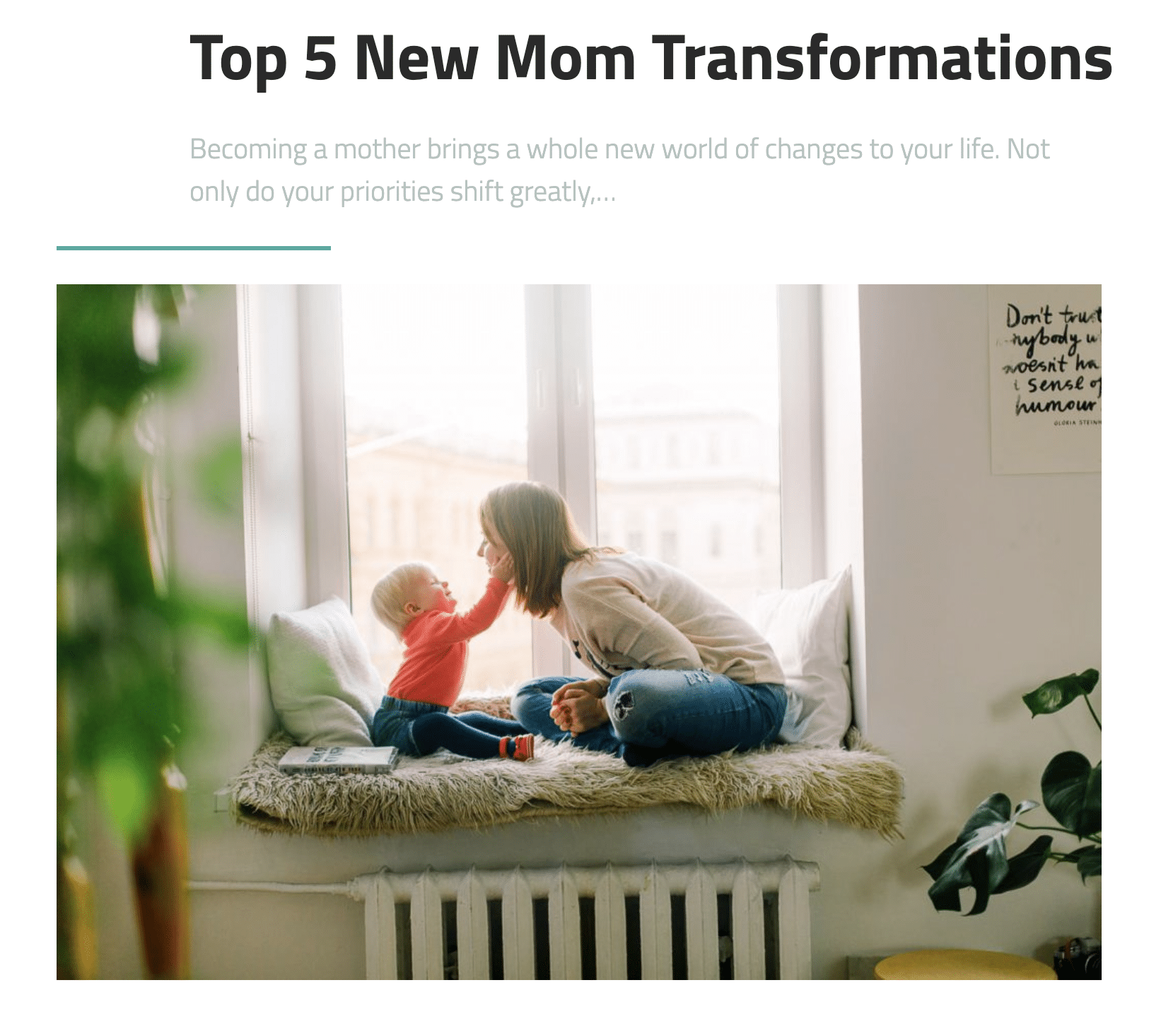 Top 5 New Mom Transformations