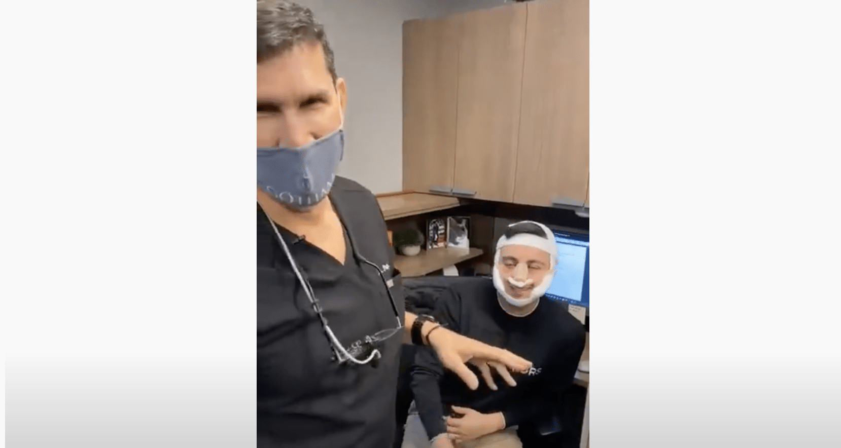 Male Rhinoplasty & Buccal Fat Removal Patient Returns to Work Just 2 Days After Surgery